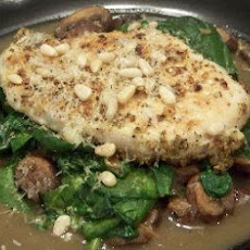 Garlic Mushroom Wine Sauced Chicken and Spinach S