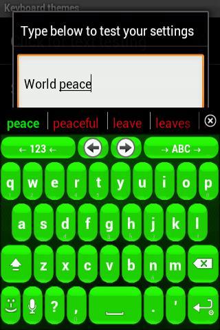 Bubble Green anysoftkeyboard