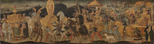 RIJKS: workshop of Apollonio di Giovanni: Darius Marching to the Battle of Issus 1455