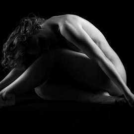 Body shapes by Paul Phull - Nudes & Boudoir Artistic Nude ( body, art nude, lighting, black and white, shadows )