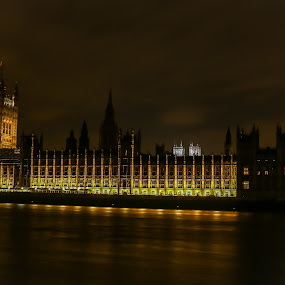 Big Ben by Natalia Photography - Buildings & Architecture Public & Historical ( uk, clock, canon 70d, cityscape, united kingdom, photography, city, nightscape, lights, tower, thames, london, vista, westminster, night, long exposure, big ben, river, , mood factory, color, lighting, moods, colorful, light, bulbs, mood-lites, city at night, street at night, park at night, nightlife, night life, nighttime in the city )