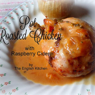 Pot Roasted Chicken with Raspberry Cider