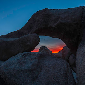 Sunset at Arch Rock by Patrick Flood - Landscapes Mountains & Hills ( canon, photosbyflood, national park, sunset, california, arch rock, joshua tree, landscape, white tank )