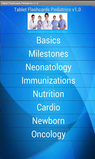 Tablet Flashcards Pediatrics