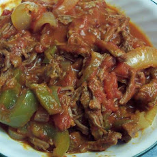 Cuban Flank Steak and Pepper Stew