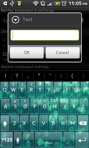 GlitterGreen KeyboardSkin