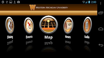 Screenshot of WMU Mobile