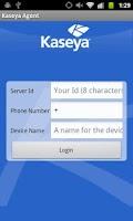 Screenshot of Kaseya Agent