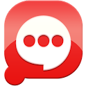 Easy SMS solid Red theme icon