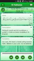 Screenshot of 50 Rabbanas: Quranic Duaas