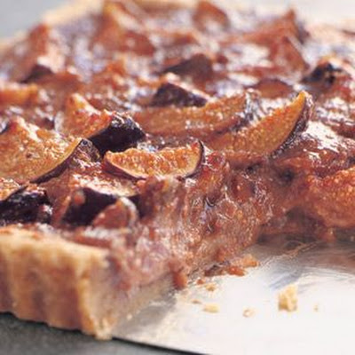 Fresh Fig Tart with Amaretti Crust