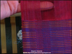 inserting finger to clear warp ends2