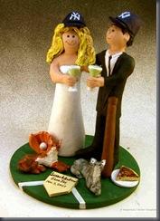 Yankee's Wedding Cake Topper