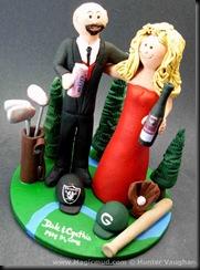 Wine Lovers Wedding Cake Topper
