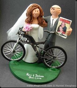 Bicycle Wedding Cake Topper