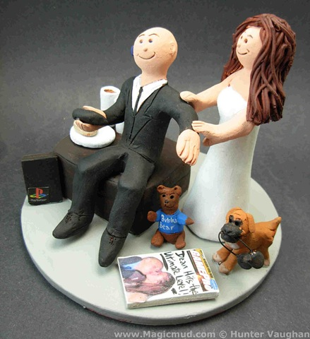 Playstation Wedding Cake Topper but this good natured wife to be is