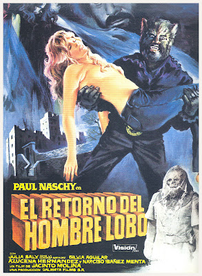 Return of the Wolfman (El Retorno del Hombre-Lobo, aka Night of the Werewolf) (1981, Spain) movie poster