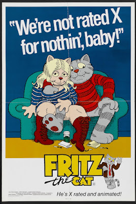 Fritz the Cat (1972, USA) movie poster