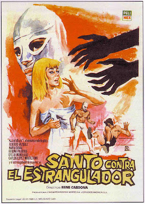 Santo vs. The Strangler (Santo vs el estrangulador) (1965, Mexico) movie poster