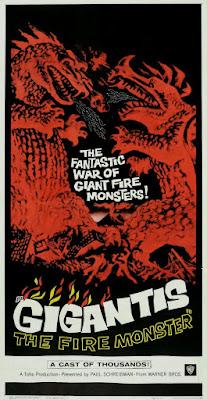 Godzilla Raids Again (Gojira no gyakushû, aka Gigantis the Fire Monster) (1955, Japan) movie poster