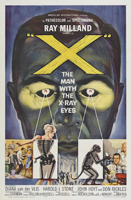 X (The Man with the X-Ray Eyes) (1963, USA) movie poster
