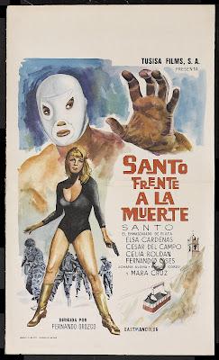 Santo Faces Death (Santo frente a la muerte) (1969, Mexico) movie poster