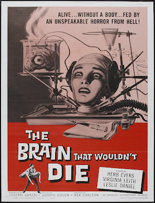 The Brain That Wouldn't Die (1962, USA) movie poster