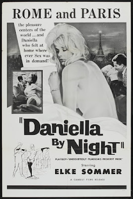 Daniella by Night (Zarte Haut in schwarzer Seide / De quoi tu te mêles, Daniela / Tender Skin in Black Silk) (1961, Germany / France) movie poster