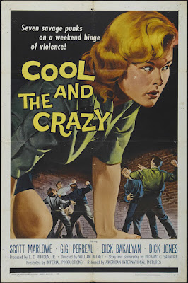 The Cool and the Crazy (1958, USA) movie poster