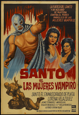 Santo vs. the Vampire Women (Santo vs. las mujeres vampiro, aka Samson vs. the Vampire Women) (1962, Mexico) movie poster