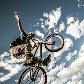 by Nathan Reitz - Sports & Fitness Other Sports ( extreme sports, mountain biking, wide angle, bmx, contest, competition )