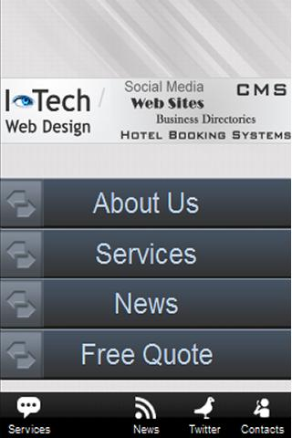 I-Tech Web Design App