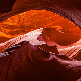antelope canyon by Cory Marshall - Landscapes Caves & Formations