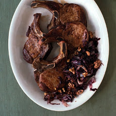 Pork Chops with Radicchio and Walnuts