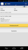Screenshot of metronom FahrPlaner