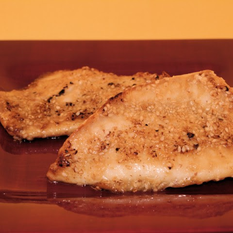 Sesame-Crusted Tilapia Fillets