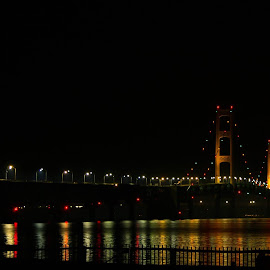 Mackinac Bridge by Emily Nichols - Buildings & Architecture Bridges & Suspended Structures