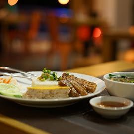 Vietnamese broken rice  Cơm Tấm  by Tung Nguyen - Food & Drink Plated Food