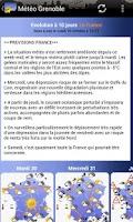 Screenshot of Météo Grenoble