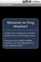 Screenshot of Fling Weather