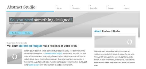 template web