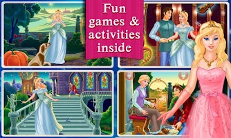 Screenshot of Cinderella Dress Up & Story