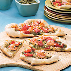 Shrimp-Pesto Pizza