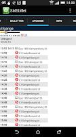 Screenshot of SMS-billet - bus/tog/metro