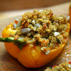 Haggis Stuffed Peppers With Couscous And Brie