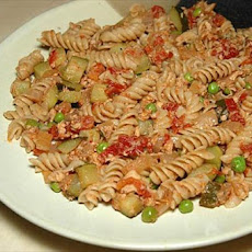 Salmon Fusilli With Zucchini & Sun-Dried Tomatoes