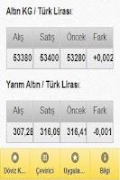 Screenshot of Altın Fiyatları
