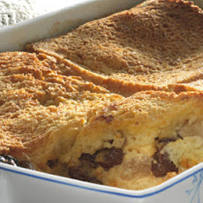 Apple, Rum And Raisin Bread And Butter Pudding