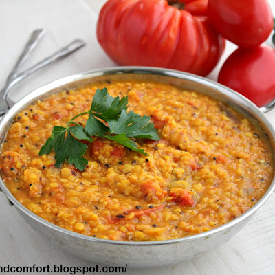 Tomato Lentil Curry (Vegan Dish)