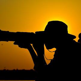 Silhouette by Arun Varghese - People Portraits of Men ( sunset, silhouette, bhigwan, pune, portrait )